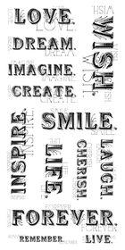 Kaisercraft Clear Sticker - Delicate Words