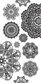 Kaisercraft Clear Sticker - Doilies