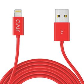 Jivo Lightning To USB Cable 3 Meters - X-Long - Red (Mfi)