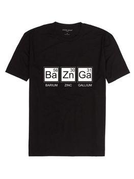 Noveltees BaZnGa Men's Short Sleeve T-Shirt - Black