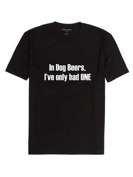 Noveltees Dog Beers Men's Short Sleeve T-Shirt - Black