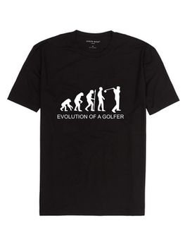 Noveltees Evolution of a Golfer Men's Short Sleeve T-Shirt - Black