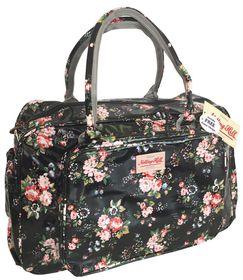Notting Hill Large Pocket Nappy Bag - Black Floral