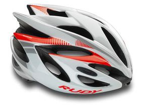 Rudy Project Rush Helmet - White Red Fluo shiny