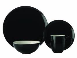 Maxwell and Williams - Colour Basics Coupe Dinner Set - 16 Piece - Black
