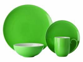 Maxwell and Williams - Colour Basics Coupe Dinner Set - 16 Piece - Green