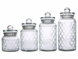 Casa - Domani Trellis Storage Jars - Set of 4