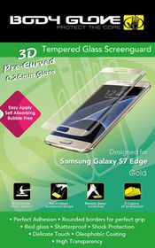 Body Glove Tempered Glass Screenguard For Samsung Galaxy S7 Edge - Gold