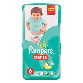 Pampers - Active Baby Pants 44 Nappies - Size 6 Jumbo Pack
