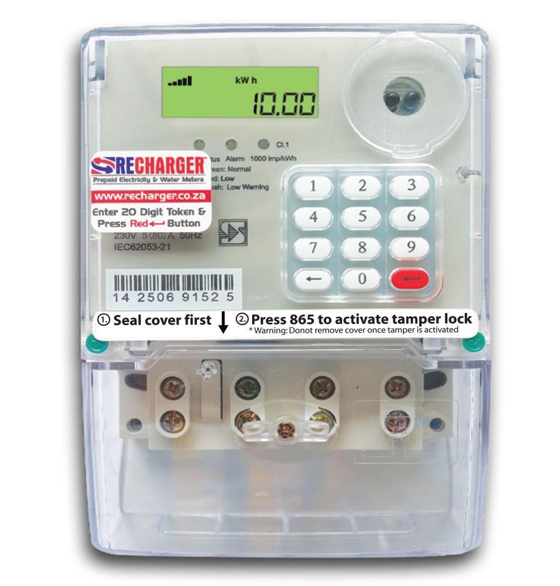 Recharger Prepaid Electricity Meter 80amp Buy Online In