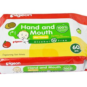 Pigeon - Hand and Mouth Wipes 2-in-1 - 60 Piece