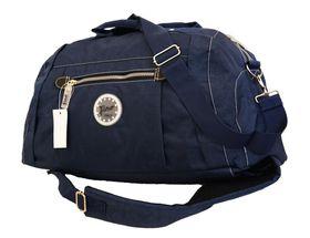 Fino Unisex Washed Nylon Duffel Bag/Backpack Sk7718/Wny - Navy Blue