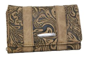 Fino Paisley Printed Pu Purse 620/093 - Brown