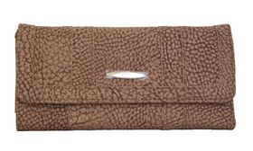 Fino Pebbled Suede Purse 261/765 - Brown