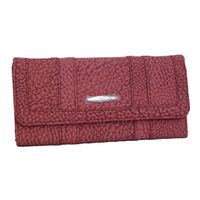 Fino Pebbled Suede Purse 261/765 - Red