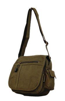 Fino Canvas Unisex Messenger/Sling Bag Sk1031/Cvs - Green
