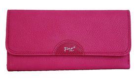 Fino Pu Fine Pebbled Leather Purse 993/765 - Pink