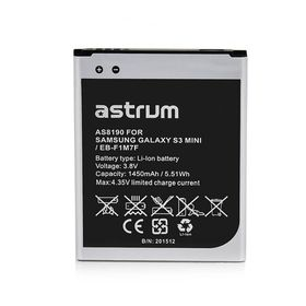 Astrum Replacement Battery for Galaxy S3 Mini / EB-F1M7F - AS8190