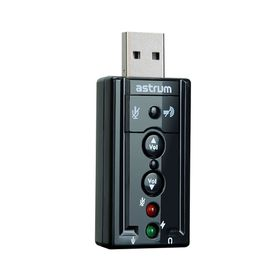 Astrum 3D Sound Card Usb2.0 Mic Aux Controls- SC080