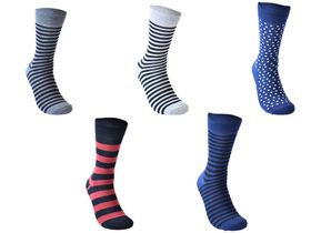 Undeez Spot and Stripes Formal Socks - (Pack of 5)