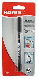 Kores K-Marker Permanent Fine Tip Marker - Black