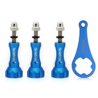 Smatree Aluminum ThumbScrew Set 3 Piece Long+ Wrench (blue)for Gopro HD Hero4 Hero3+ Hero3 Hero2 & SJ4000, SJ5000 Camera