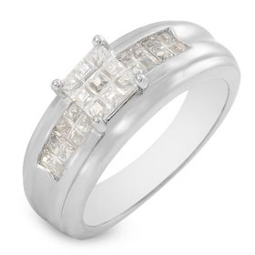 Miss Jewels 2ctw Invisible Cut Style CZ Silver Ring