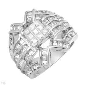 Miss Jewels 10.65ct Invisible Cut CZ Silver Dress Ring