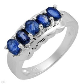 Miss Jewels 1.25ctw Sapphire Blue Cubic Zirconia Cocktail Ring in 925 Sterling Silver