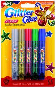 Amos Classic Glitter Glue - 5 Colours