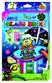 Amos Glass Deco Glow In The Dark Set