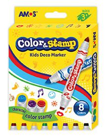 Amos Color & Stamp 8 Deco Markers