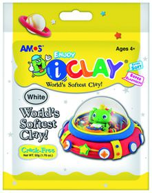 Amos iClay 50g Packet - White