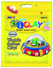 Amos iClay 50g Packet - Yellow