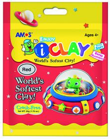 Amos iClay 50g Packet - Red