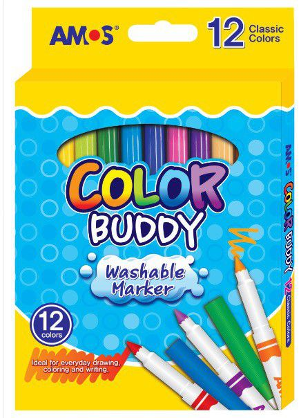 Amos Color Buddy 12 Washable Markers | Buy Online in South Africa ...