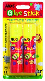 Amos Glue Stick - 35g (Blister of 2)