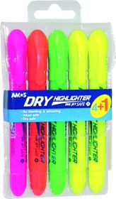 Amos Dry Highlighters Twist-Up (Pouch of 4+1)
