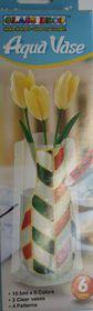 Amos Glass Deco Aqua Vase Set