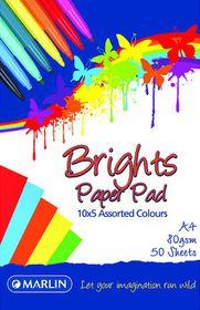 Marlin A4 Brights Paper Pad 50 Sheets