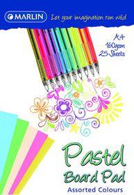 Marlin A4 Pastel Project Board Pad 25 Sheets