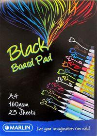 Marlin A4 Black Project Board Pad 25 Sheets