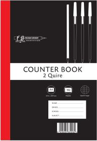 Freedom Stationery 2-Quire 192 Page A4 Q&M Counter Book
