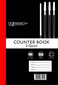 Freedom Stationery 3-Quire 288 Page A4 F&M Counter Book (5 Pack)