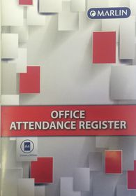 Marlin A4 Office Attendance Register - 14 Leaves (20 Pack)