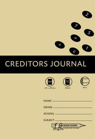 Freedom Stationery 72 Page A4 8MC Creditors Journal (20 Pack)