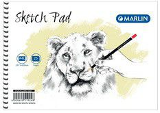 Marlin A4L 25 Leaves Sketch Pad Side Spiral
