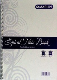 Marlin A4 100 Page Spiral Note Book (12 Pack)