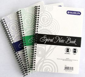 Marlin A6 100 Page Spiral Note Book (12 Pack)