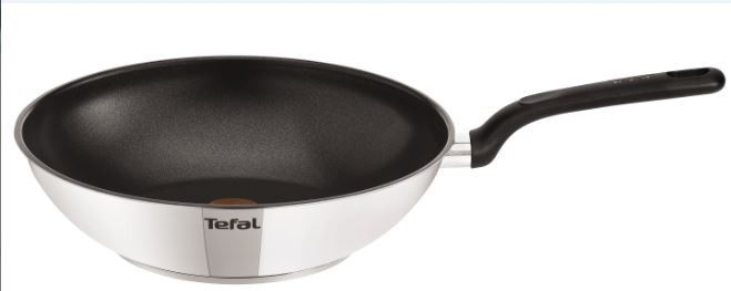 tefal duetto stainless steel wok pan 28 cm loading zoom